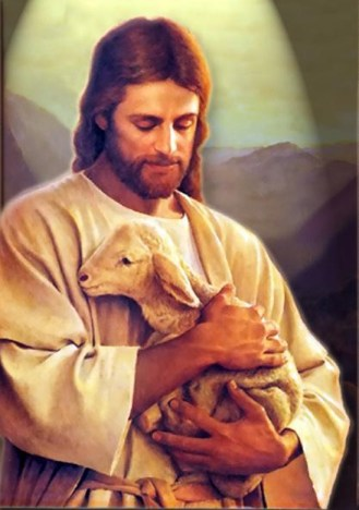 Jesus-shepherd-holds-lamb-in-arms