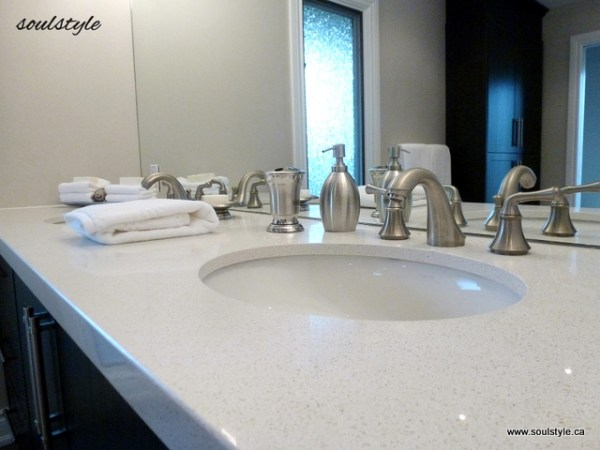 quartz countertop brushed nickel fixtures