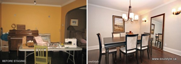 Before & After Dining Room