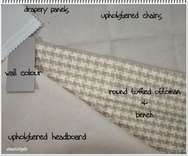 Master Bedroom Fabrics