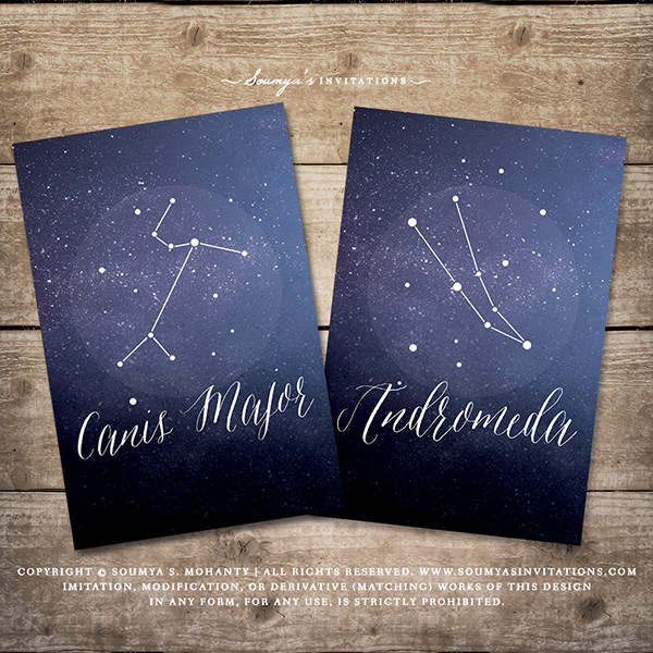 Constellation Celestial Table Numbers, Starry Night Galaxy Astronomy