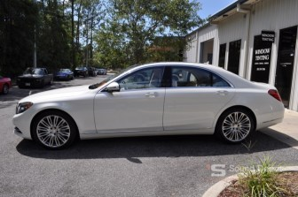 2016 mercedes benz s550 from gainesville gets blacked out tint for Mercedes benz gainesville