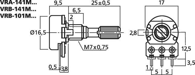 potentiometer diagram a rotary potentiometer is