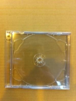CD \u0027BRILLIANT BOX\u0027 DOUBLE CASES+CLEAR INSERT TRAYS CD + DVD