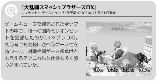 """The only game in the entire Gamecube catalog that exceeded 1 million sales in Japan, """"Super Smash Bros. Melee."""" While it had the nature of being a game that even beginners could have fun playing casually, it had a lot of advanced techniques that you could say might even put competitive fighting games to shame."""