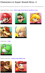 The character page on SSB4Dojo.