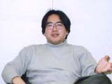 "Mr. Satoru Iwata / The character he uses often is Mario / ""Because I've gotten used to him the most since development."""