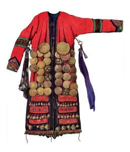 Numinchen shaman's robes with brass mirros and bell pendants