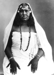 Oromo woman, possibly wearing a cäle rosary, 1890