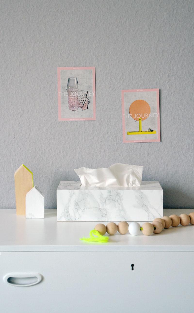 So einfach und so stylisch: DIY Tempobox im Marmor Look |