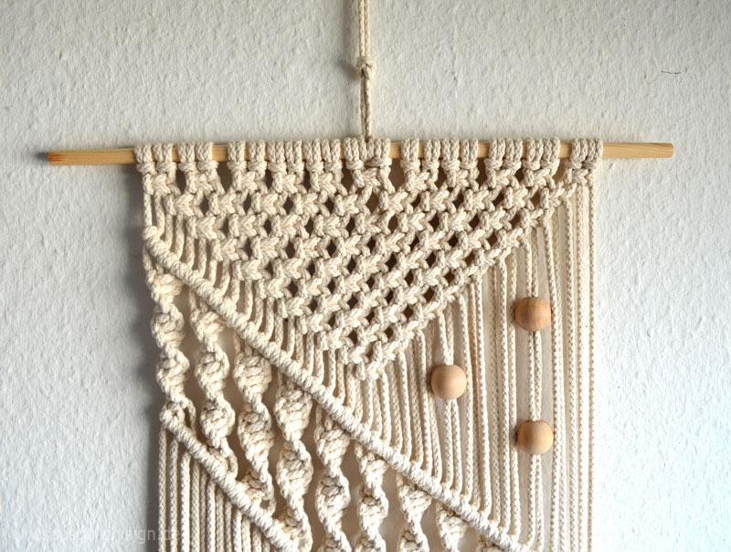 Diy boho style ein selbstgemachtes makramee wandbeh nge - Makramee wandbehang ...