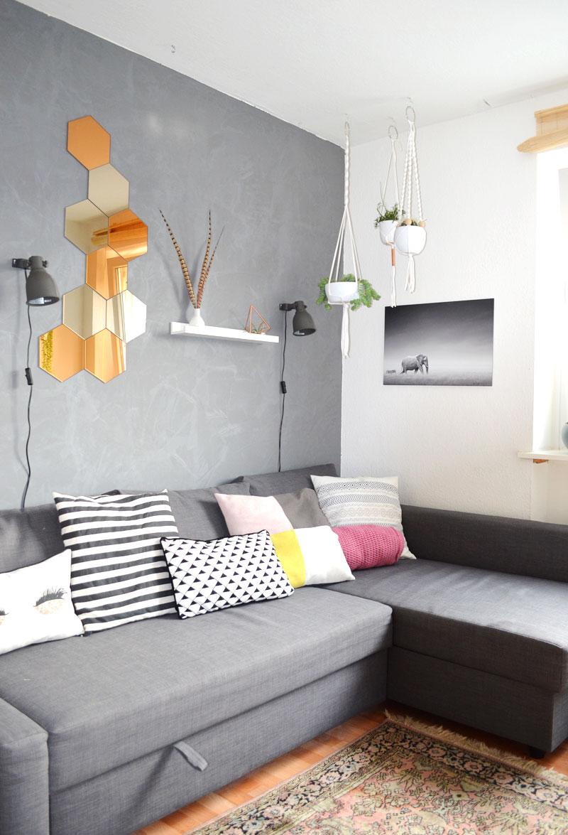 Unser Wohnzimmer: Kupfer Akzente, Orientteppich und ein nicht ganz ...