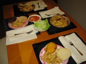 <p>Gourmet Burgers for Four, Made to Order</p>