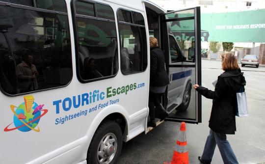 Our chariot awaits!  The comfy TOURific Escapes tour bus.