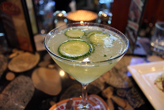 33-2011-12-28 Cucumber Martinit, Happy Hour at Lazy Dog Cafe, Torrance 043