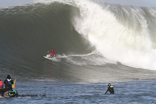 A Wave at Mavericks. Photo Credited to Rick Buchich on Flickr