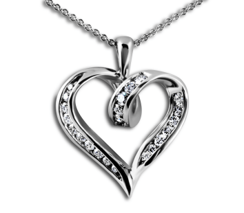Heart-shape Pendant Diamond Pendant-South bay Gold