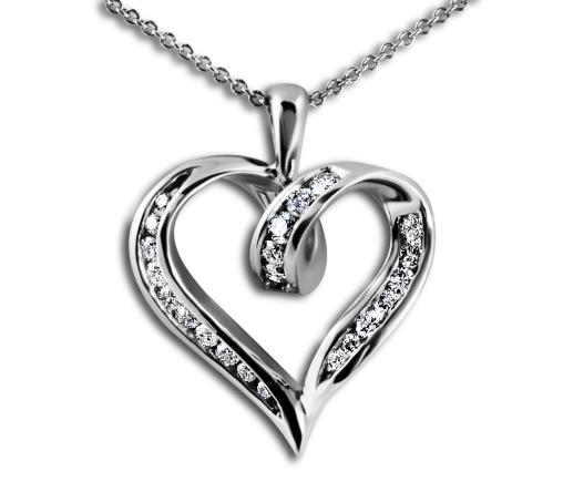Heart-shape Pendant Diamond Pendant-South bay Gold