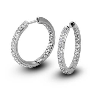 South Bay Gold Pavé Diamonds Hoop Earrings-Torrance