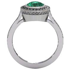 Emerald Modern Ring - Front-View - South Bay Gold