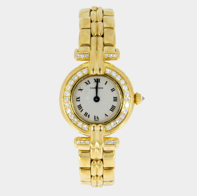 Cartier 18k Gold Watch Cartier Colisee |18k Gold With