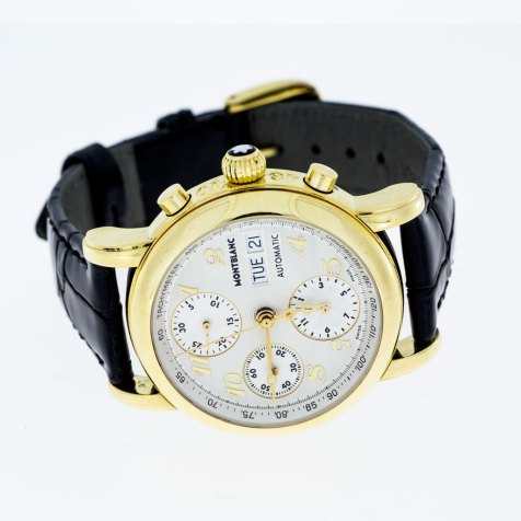 Monte Blanc Chronograph Meisterstuck 4810 - 18k Gold - South Bay Gold Torrance