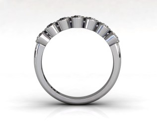 Wedding Bands Ladies 7 Stone Bezel Diamonds 0.29 TCW 14kt 3.17g White Gold South Bay Gold