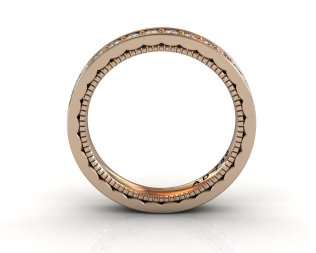 Wedding Bands Ladies Channel Set 30 Stone 0.89 TCW Diamonds 3.92g 18kt Rose Gold - South Bay Gold