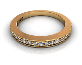 Wedding Bands Ladies Diamonds Pave´ 17 Stone 0.27TCW Diamonds 4.48GR 18KT Yellow Gold Jewelry Store Torrance
