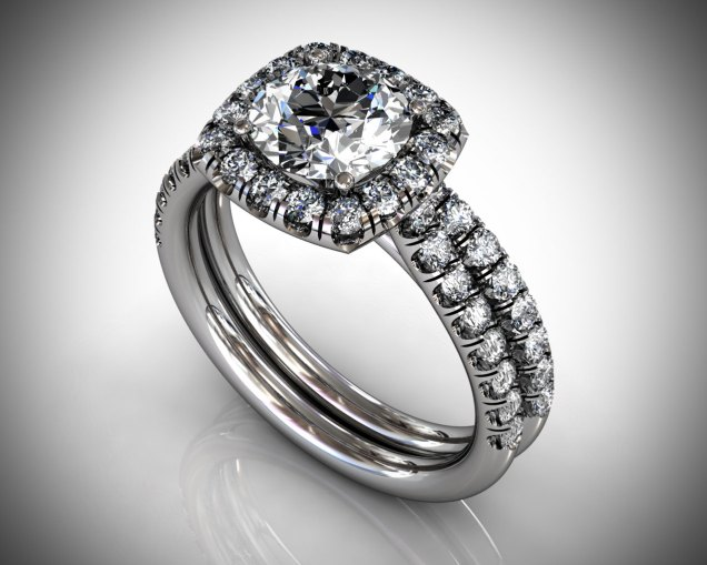 Diamond Halo Engagement Ring - SBG Jewelry Store - Wedding.com