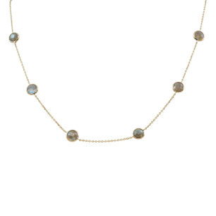 Labordorite Necklace Gemstone - By The Yard 14k Yellow Gold Jewelry Store Torrance