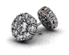 Florette Diamond Stud earrings White Gold-SBG