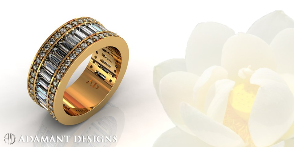 Wedding Eternity Band 28 Diamonds
