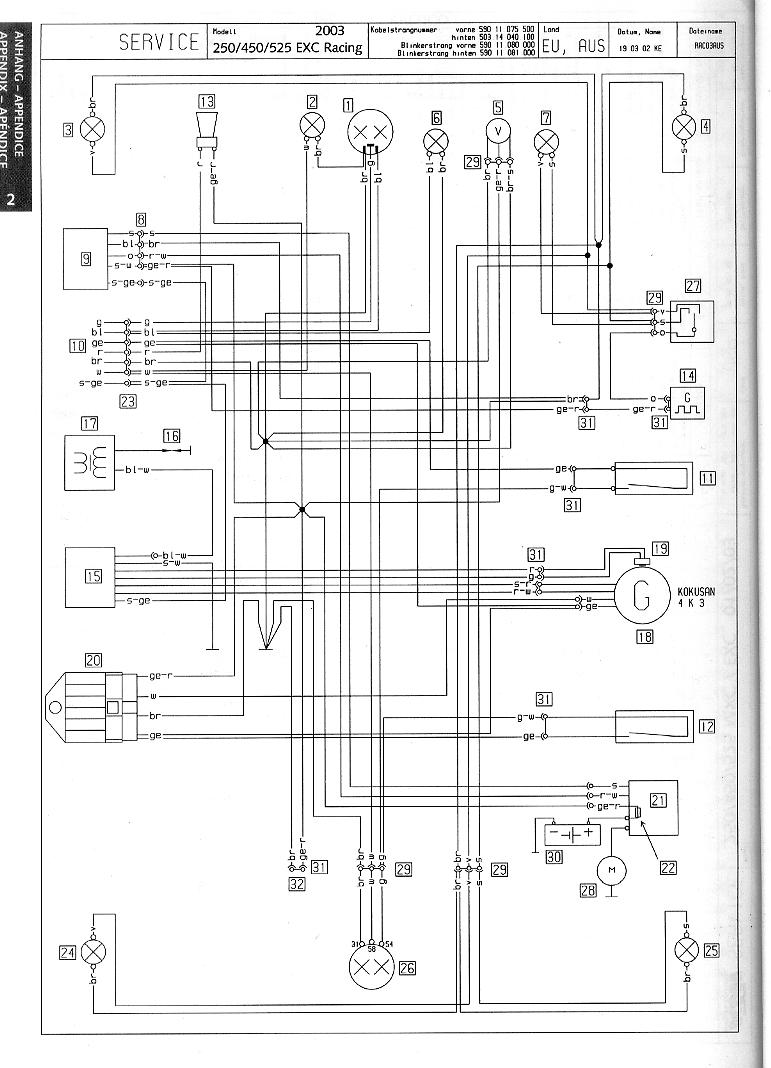 wire schematic ktm 450 smr