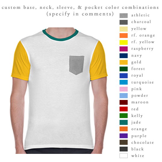 Apparel - T-Shirts South by Sea - pocket t shirt template