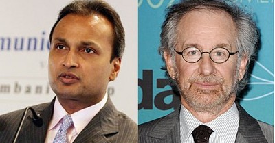 anil dhirubhai ambani steven spielberg Reliance in talks with Steven Spielberg