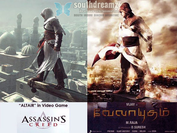 assassins creed velayutham vijay The copies of Tamil movies from Hollywood & Bollywood