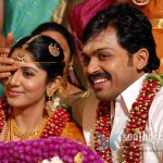 Karthi marries Ranjani in traditional style