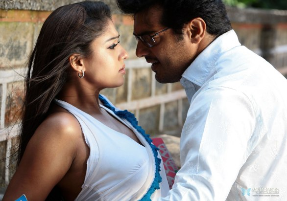 aegan ajith nayanthara love making stills 586x411 Ajith and Aarya team up for the first time