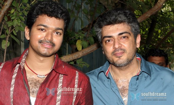 vijay and ajith 586x355 Vijay and Ajith coming together?