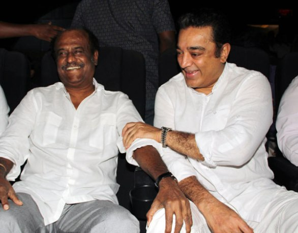 rajini and kamal 586x458 Superstar Rajnikanth does it for Vijay, Surya