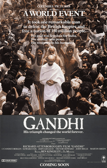 Gandhi poster 100 years of Indian Cinema