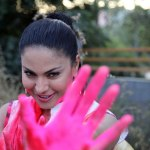 Veena Malik in the colour of Holi