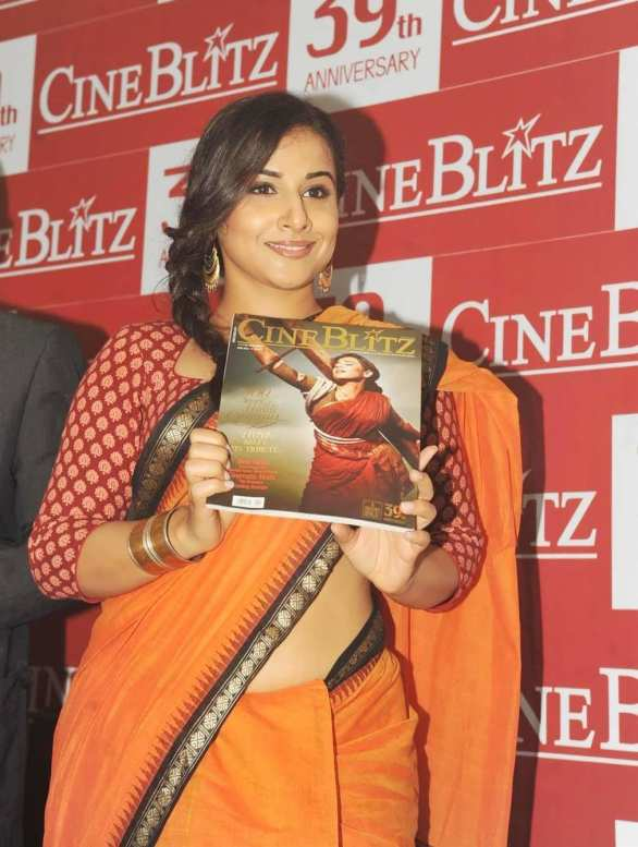vidya balan launches cineblitz magazine april 2013 6 586x777 Vidya Balan Hot navel Show