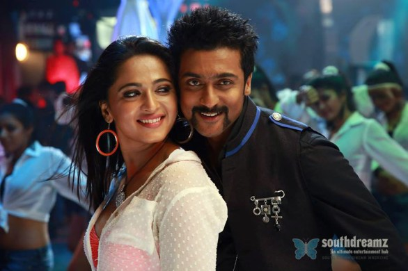 singam 2 surya and anushka love making stills 586x390 Singam 2 music review