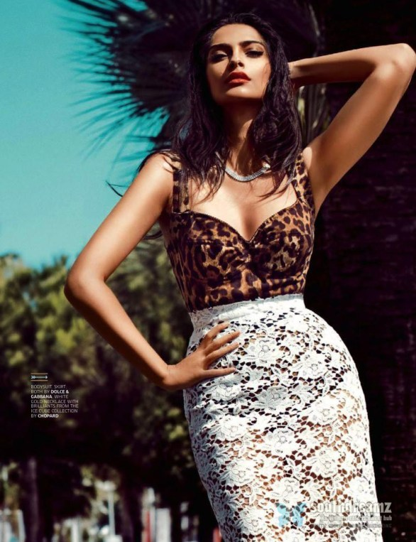 sonam kapoor ravishing sexy look gq india august 2013 issue 586x763 RED Hot Sonam Kapoor