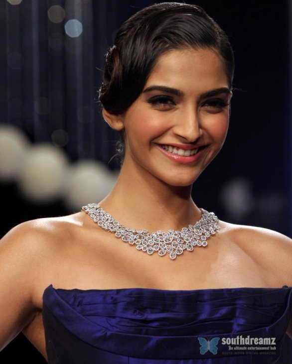Sonam Kapoor Inaugurates IIJW 2013 Photos 3 586x731 Sonam looks picture perfect!