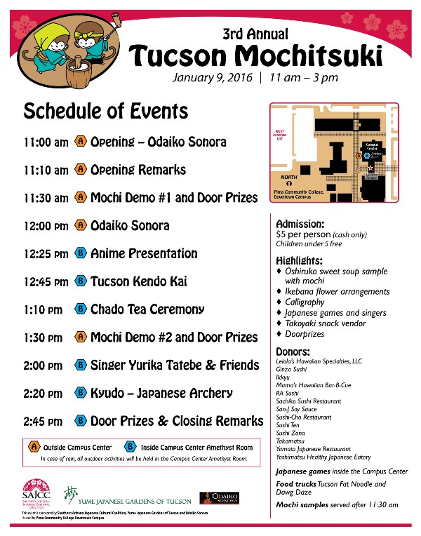 Mochitsuki 6×7 Event Program Southern AZ Japanese Cultural Coalition - Event Program