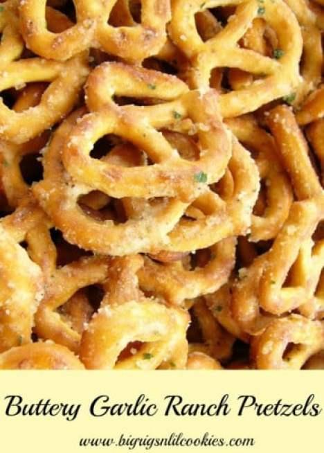 Buttery Garlic Ranch Crack Pretzels