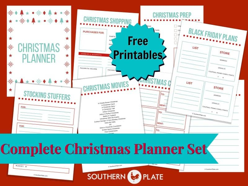 FREE Christmas Planner Printables - Southern Plate
